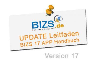 BIZS 17 Update Leitfaden & BIZS 17 APP Handbuch
