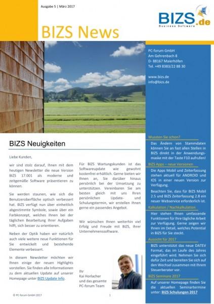 BIZS 17 Newsletter