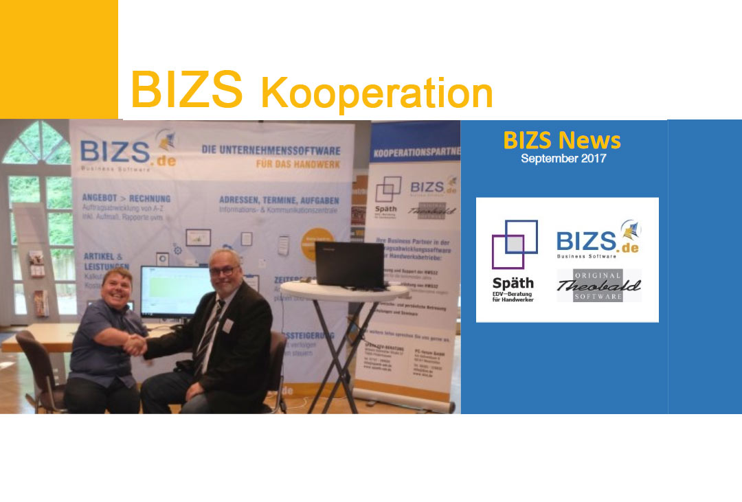 BIZS Kooperation mit EDV Späth, Handwerk digital