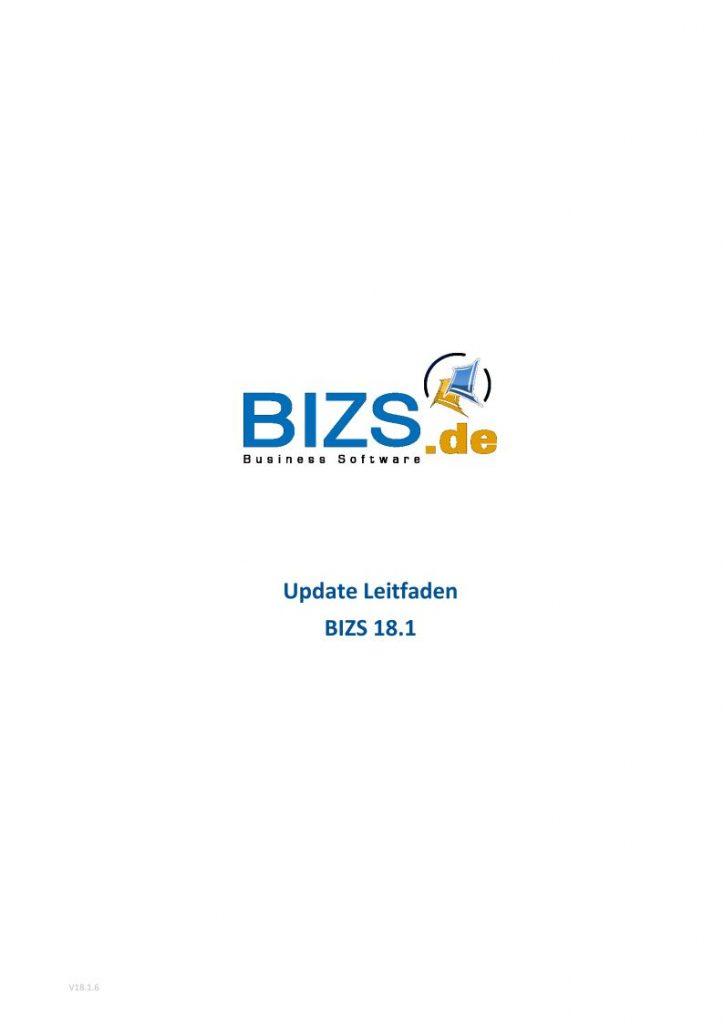 BIZS 18.1 Update Leitfaden