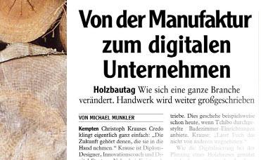 Holzbautag – Von der Manufaktur zum digitalen Unternehmen